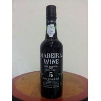 Vinho Madeira 5 Anos Doce 0,375L 18% vol.
