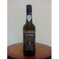 Vinho Madeira 5 Anos M/Seco 0,375L 18% vol.