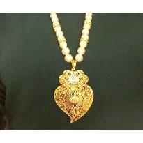 Colar Coração de Viana Dourado