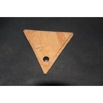Porta-moedas triângulo 10x10cm