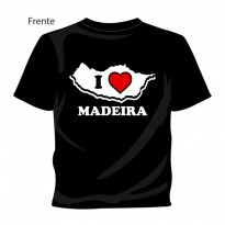 "T-shirt ""I Love Madeira"" Preto"