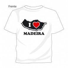 "T-shirt ""I Love Madeira"" Branco"