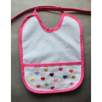 Pink Bib with Hearts