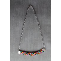 Macrame Collier Multicolore